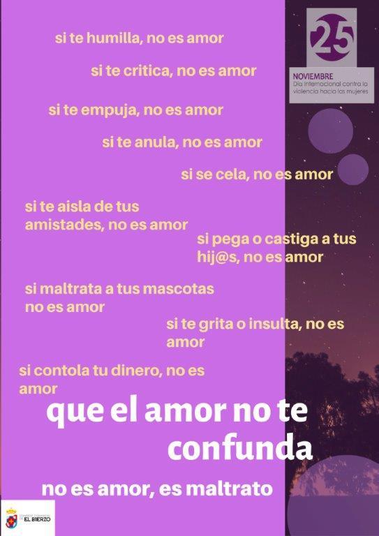 Cartel de la campaña 'Que el amor no te confunda'
