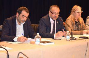 Antonio Cuellas, Gerardo Álvarez Courel y Carmen Doel