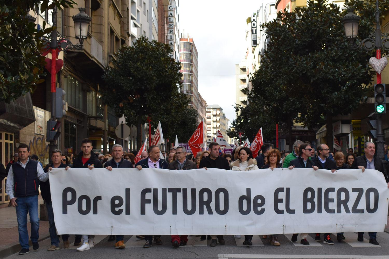 Manifestación por el futuro de El Bierzo