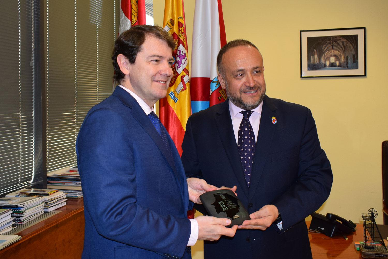 Visita del presidente de la Junta de Castilla y León al Consejo Comarcal