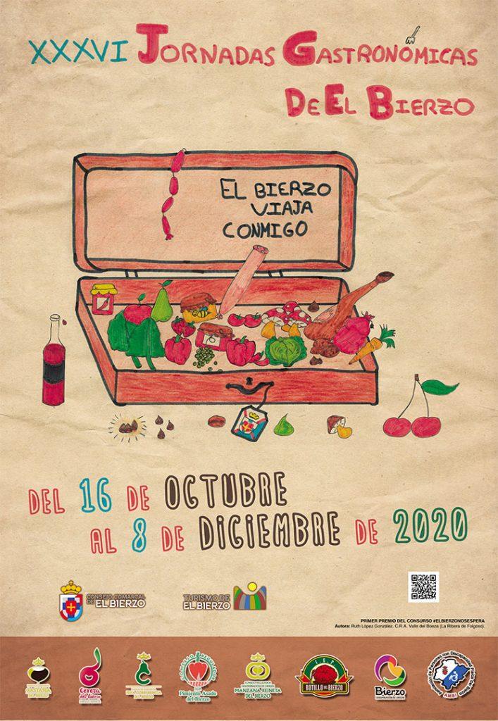 Cartel de las XXXVI Jornadas Gastronómicas de El Bierzo